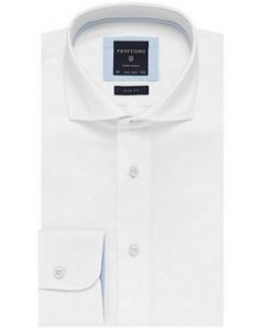 Profuomo overhemd slim fit wit