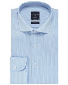 Profuomo overhemd slim fit wit/blauw