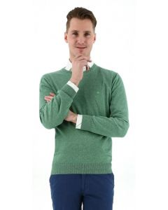 Redmond pullover regular fit groen