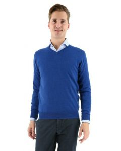 Baileys V-hals pullover French blue