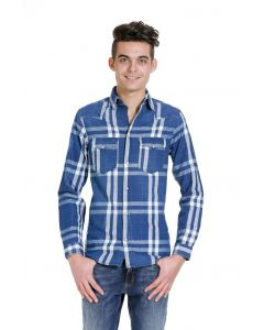Jack en Jones clock western shirt, blauw