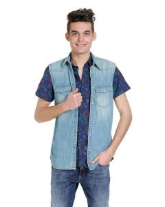 Jack en Jones mouwloos hemd, denim