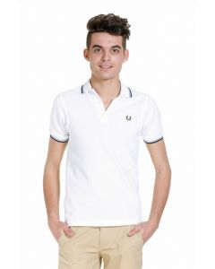 Fred Perry poloshirt, wit