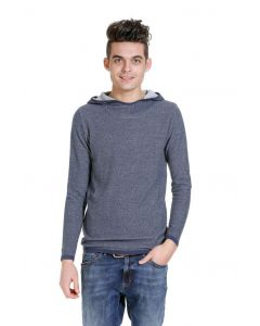 Jack en Jones Kadyn knit hood, blauw