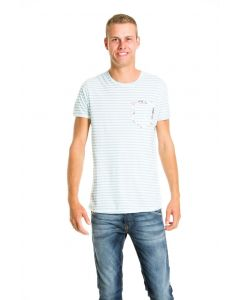 Jack & Jones t-shirt, lichtblauw/wit